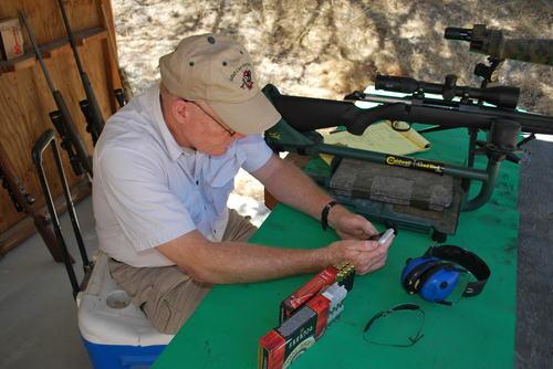 hot rifle barrel cooling down