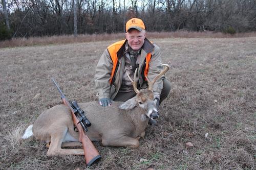 Craig Boddington, deer hunt, Kansas, buck, Roberts .257