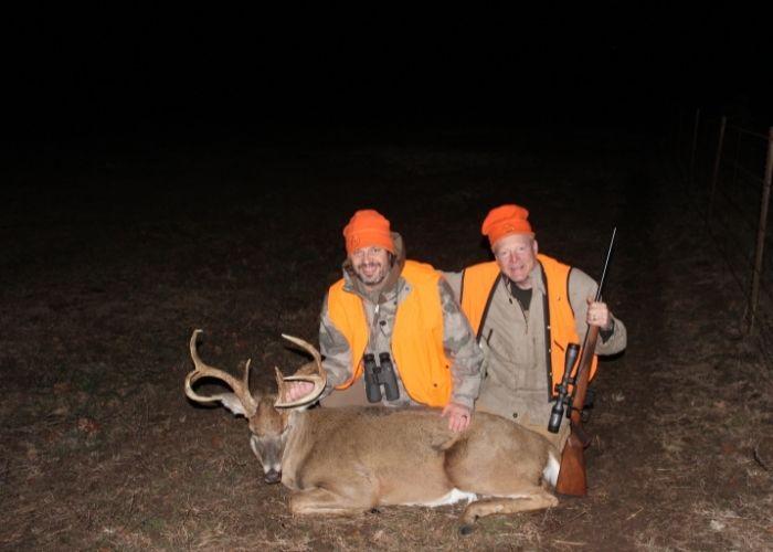 Jason Morton and Boddington with a good Kansas whitetail