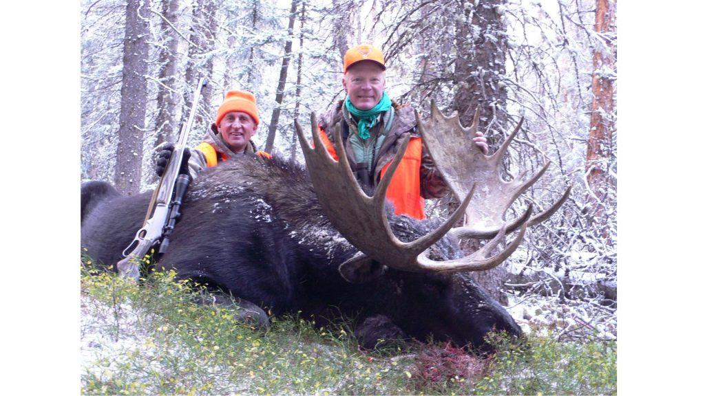 Boddington and George Taulman with a fine Colorado Shiras moose