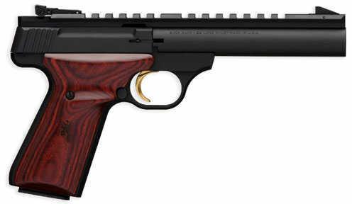 "Browning Buckmark Semi-Auto Pistol Field 22LR 5 1/2"" Barrel Target Rosewood Grip 10 Round Matte Black Finish Blued Barrel"