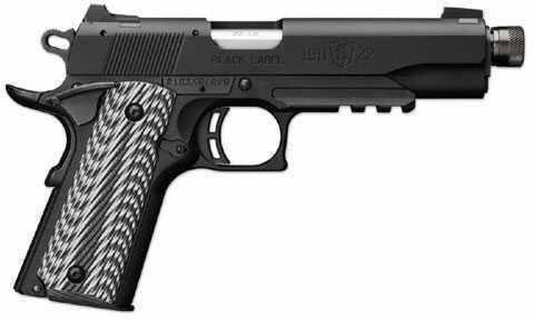 "Browning 1911-22 Black Label Pistol 4 7/8"" Barrel Matte Finish Barrel and Receiver Supressor Ready 22 Long Rifle 051820490"