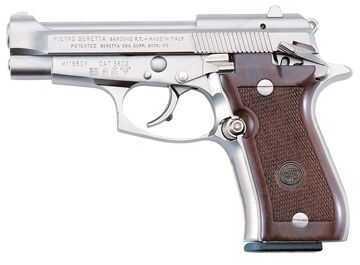 Beretta 84 Cheetah 380 ACP 13 Round Nickel Frame Wood Grip Semi Automatic Pistol J84F212