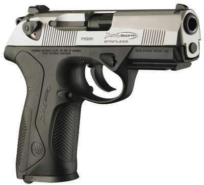 """Beretta Px4 Inox 40 S&W 4"""" Barrel 10 Round Stainless Steel Black Semi Automatic Pistol JXF4F50"""