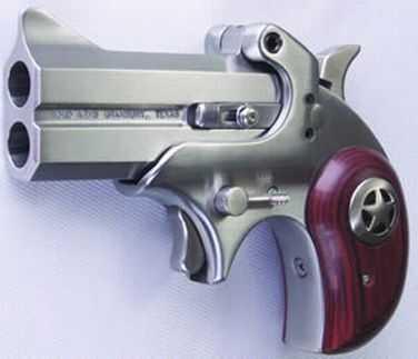 """Bond Arms Cowboy Defender 45 Colt/410 Gauge 2.5""""/3"""" Barrel 2 Round Stainless Steel Derringer Pistol BACD45/410"""