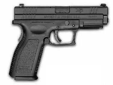 "Springfield Armory XD 357 Sig Sauer 4"" Black 2 12 Round Trijicon Sights Semi-AutoPistol XD9113HCSP06"