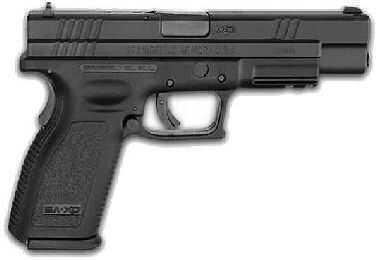 "Springfield Armory XD 45ACP 5"" Barrel Black Finish Trijicon Sight Semi Automatic Pistol XD9624HCSP06"