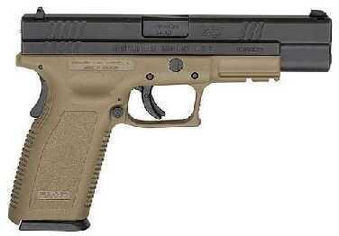 "Springfield Armory XD 45ACP Compact 5"" Barrel Flat Dark Earth Finish Semi Automatic Pistol XD9657HCSP06"