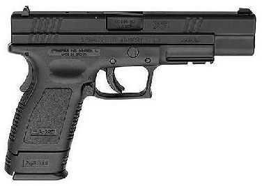 "Springfield Armory XD 45 ACP Compact 5"" Barrel Black Finish Trijicon Sight Semi Automatic Pistol XD9658HCSP06"