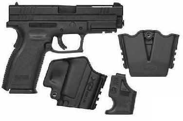"Springfield Armory XD 40 S&W 4"" V-10 Ported Barrel Black Frame Semi-Automatic Pistol XD9702SP06"