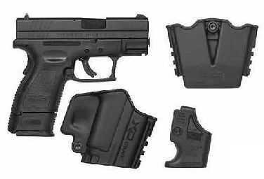 "Springfield Armory XD 40 S&W Subcompact 3"" Barrel Black Heinie Tritium Semi-Automatic Pistol XD9842HCSP06"