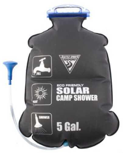 Seattle Sports PVC Free Solar Shower 5 Gallons, Black 031215
