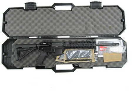 "Black Dawn AR-15 5.56mm NATO / 223 Remington 16"" Barrel 30 Round Mag Hard Case Mid-Length MFR Rail Black Semi Automatic Rifle BDR-15B-BLK"