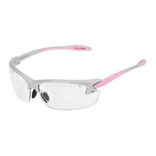 Radians Women's Shting Glasses Clear Lens, Silver &Pink Frame PG0810CS