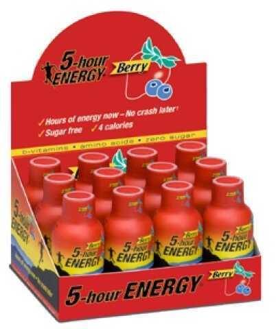 5-Hour Energy Drink, Original, Per 12 Berry 500181