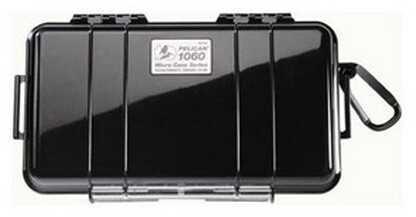 Pelican Micro Case 1060 Black Lid, Black 1060-025-110