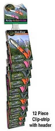 Outdoor Edge Cutlery Corp 12 Piece Mini-Grip Clip-Strip(Black,Pink,Orange) MG-12CS