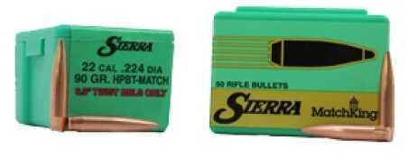Sierra 22 Caliber (.224) 90 Gr HPBT/50 9290T