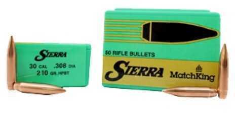 Sierra 30 Caliber 210 Gr HPBT Match/50 9240T