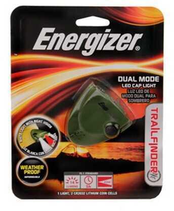 Energizer Trail Finder Dual Mode 3-LED Cap Light TFCAPR2B