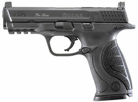 Smith & Wesson Pistol S&W M&P9 9mm 4.3 Threaded Barrel Optics Ready Blued Black