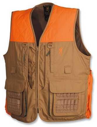 Browning Upland Vest w/Blaze Trim, Field Tan X-Large 3051193204