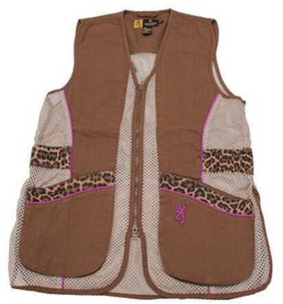 Browning Lady Sahara Brown/Leopard Vest X-Large 3050683804