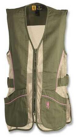 Browning Lady Mesh Vest, Sage/Pink Medium 3050675402