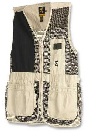 Browning Trapper Creek Left Hand Vest, Sand/Black XX-Large 3050362805