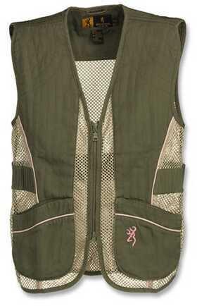 Browning Youth Mesh Vest Sage/Pink X-Large 3050544404