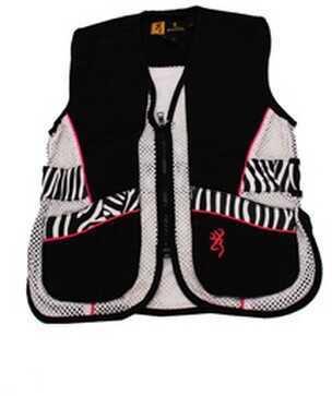 Browning Lady Sahara Black/Zebra Vest Youth, Large 3050543903