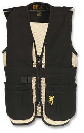 Browning Jr Trapper Creek Vest, Black/Tan Large 3050548903