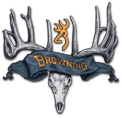 "Browning Deer & Skull 5"" Decal Black/Gold"