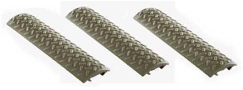 Ergo Grip Diamond Plate Rail Cover Grips 3 Pack OD Green