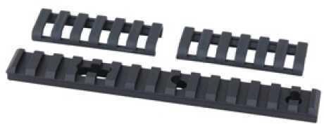 Ergo Aluminum UMP Rail 15 Slot, 2 Holes/1 Slot, Black 4753