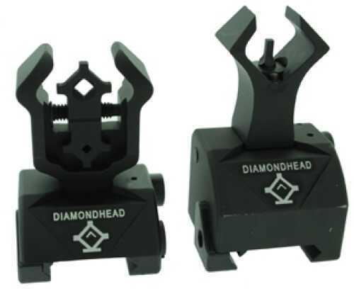 Diamondhead Diamond Sight Rear and Gas Block AR10 Front 1699