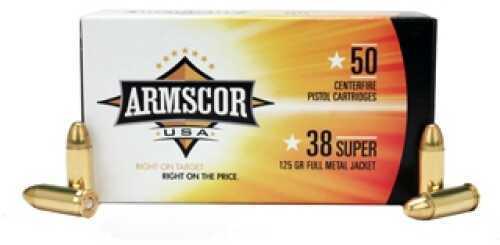 Armscor Precision Inc 38 Super 125Gr FMJ (Per 50) 50050