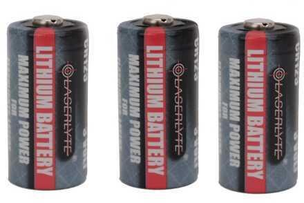 LaserLyte Batteries CR-123, 3 Pack: K-15, K-15T BAT-CR123