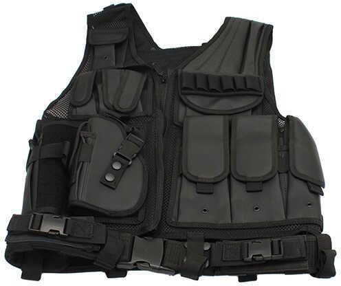 Galati Gear Black Deluxe Tactical Vest-Standard Left Hand Md: GLV547BLEFT