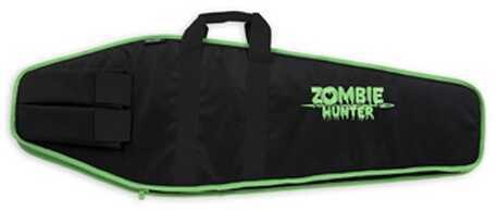 "Bulldog Cases Economy Tactical Case Black w/Zombie Green Trim 38"" ZMB-38"