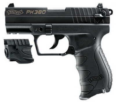 "Walther PK380 380 ACP Black 3.66"" Barrel With Laser Semi Automatic Pistol 5050310"