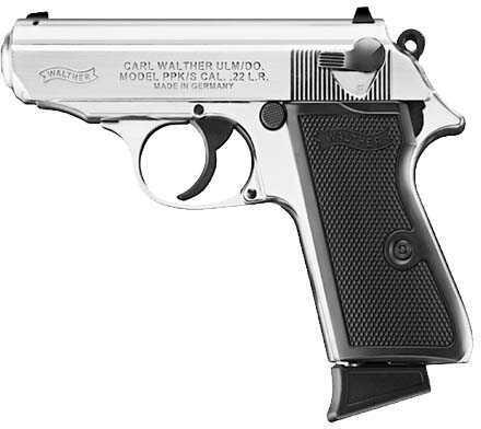 "Walther PPK/S 22 Long Rifle 3.35""Barrel Nickel Semi Automatic Pistol 5030320"