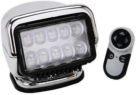 GoLight LED Stryker Wireless HandHeld Remote Mag Base, Chrome 30065