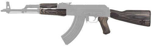 Tapco Timber Smith Romanian AK47 Stock Set Black Laminate Md: TIM06000-BLK-LAM