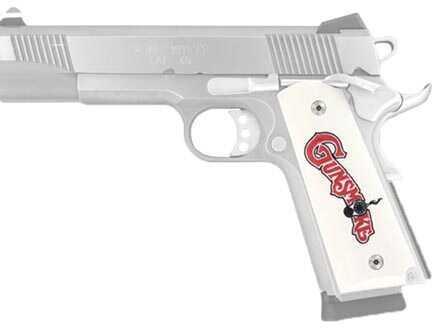 Hogue Scrimshaw Grips Government, Ivory Polymer, Ambidextrous, Gunsmoke 45049