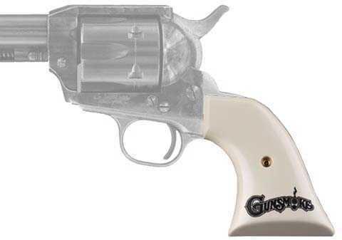 Hogue Colt SA Scrimshaw Ivory Polymer Gunsmoke 50034