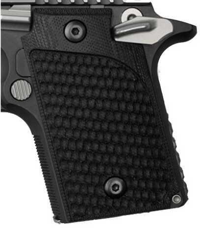 Hogue Sig P938 Ambidextrous Extreme Series Grip Ambidextrous, Pirahna G10 Solid Black 98129
