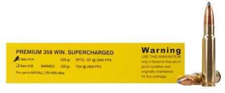 Buffalo Bore Ammunition Premium Sport Cartridge 358 Winchester 225 Gr Spitzer-BT (Per 20) 41A/20