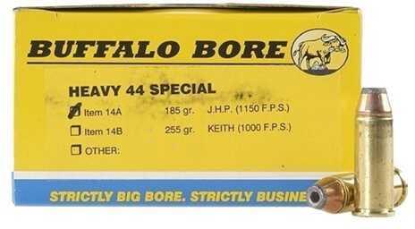 Buffalo Bore Ammunition Heavy 44 Special 180 Gr JHP (Per 50) 14A/50