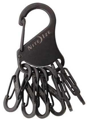 Nite Ize Key Rack Black/Stainless Steel S-Biners KRS-03-01